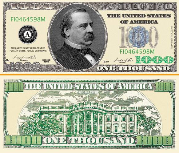 dollar bill. as a real dollar bill.